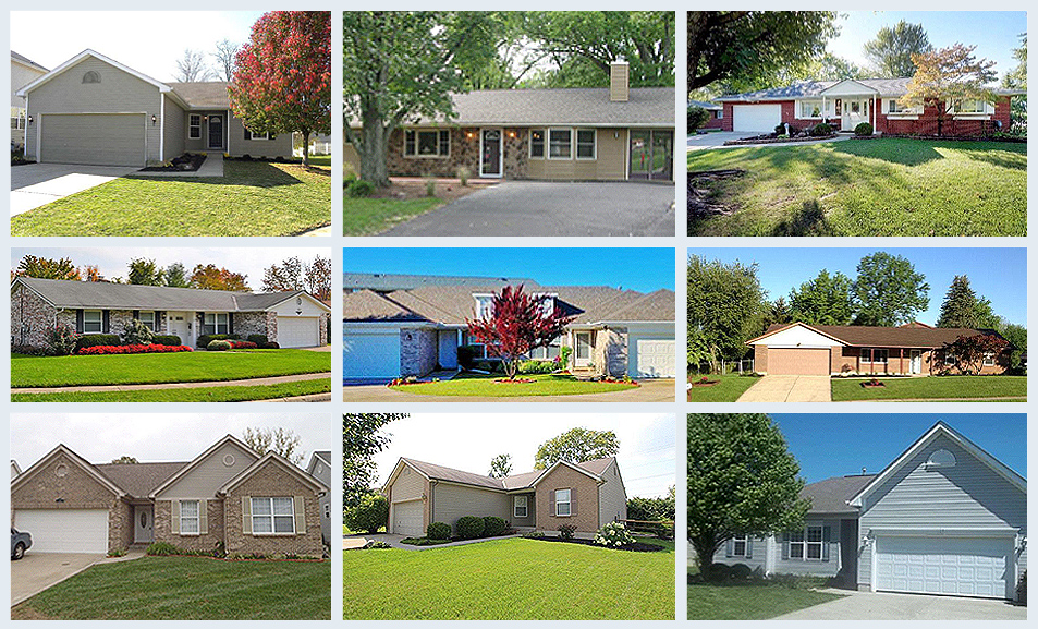 A photo collage of some of the Community Housing Assistance Program (CHAP) homes